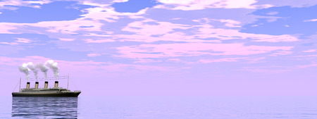 ocean liner: cruise ship - 3D render
