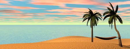 relaxation: Relaxation at holidays - 3D render