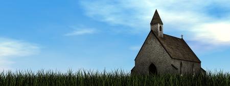 chapel: Small chapel - 3D render