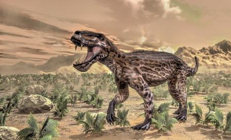 dinosauro: Lycaenops dinosauri - 3D rendering
