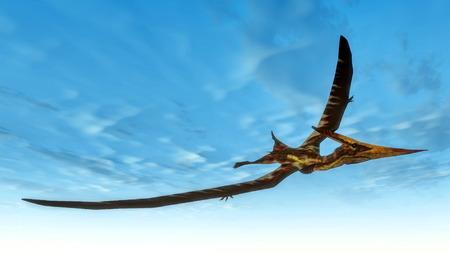 pterosaur: Pteranodon bird flying - 3D render