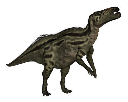 extinction: Shantungosaurus dinosaur - 3D render