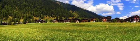 canton berne: Biel chalets by beautiful summer day, Berne canton, Switzerland