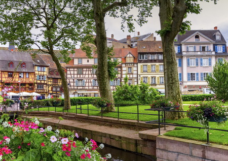 the little venice: Famous traditional colorful houses in Colmar, Alsace, France Stock Photo
