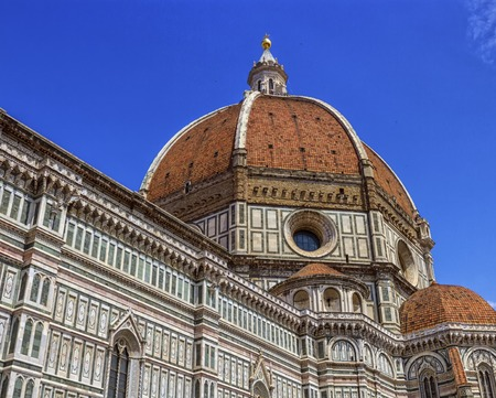 fiore: Cathedral Santa Maria del Fiore, Duomo, by day in Florence, Tuscany, Italy Stock Photo