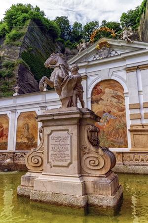 stone wash: Kapitelschwemme, Horse wash by day in Salzburg, Austria Stock Photo