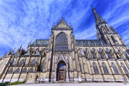 immaculate: New Cathedral of the Immaculate Conception, Neuer Dom, by day in Linz, Austria Stock Photo