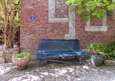 Bench at the place for lovers, Liege, Belgium