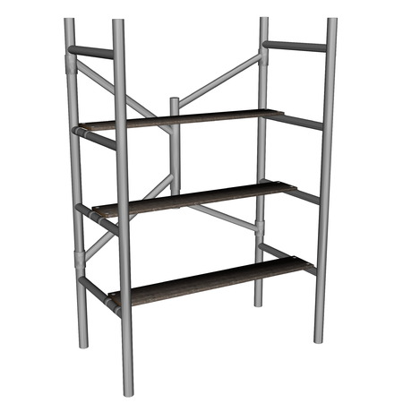 scaffold: Scaffolding ladder isolated in white background - 3D render