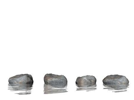 zen stones: Zen stones - 3D render