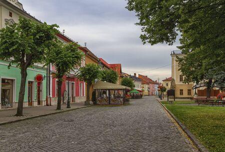 Old street in Kezmarok, Slovakia