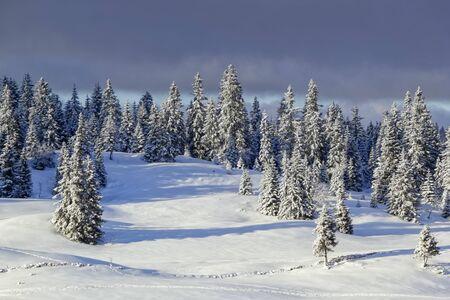Jura mountain in winter, Switzerland Stock Photo