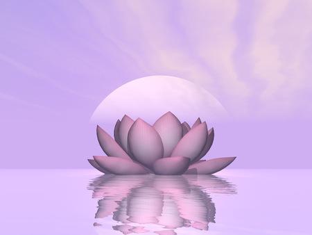 ユリの蓮の花 - 3 D レンダリングします。 写真素材