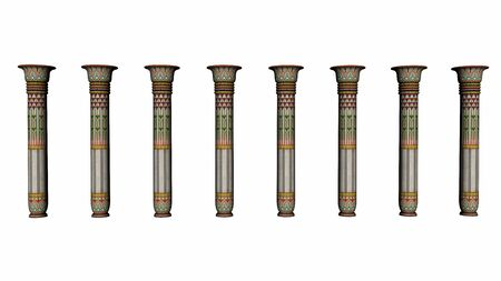 cleopatra: Columns of Egypt - 3D render Stock Photo