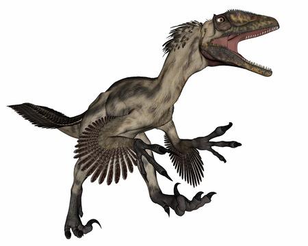 deinonychus: Deinocheirus dinosaur - 3D render