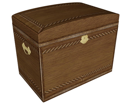 Big vintage wooden box - 3D render Stock Photo
