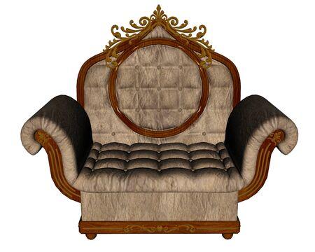 Vintage armchair - 3D render