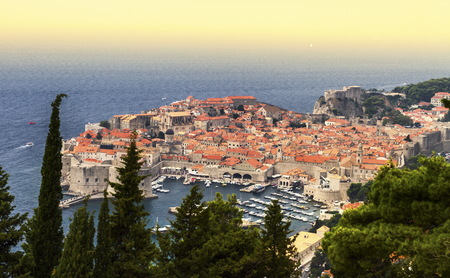 Dubrovnik old city on the Adriatic Sea, South Dalmatia region