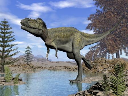 Alioramus dinosaur - 3D render