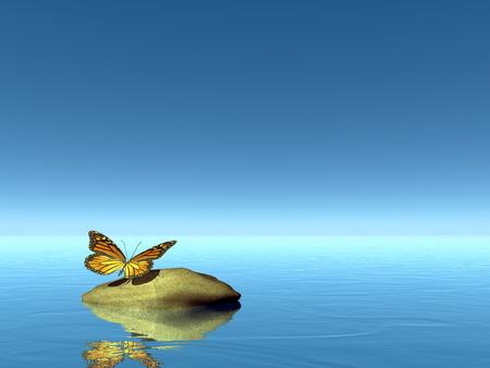 自然の平和の 3 D レンダリングします。