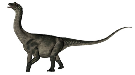 Antarctosaurus dinosaur - 3D render Banque d'images