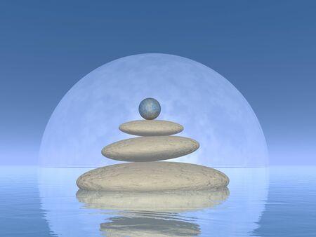 spa still life: Balance - 3D render