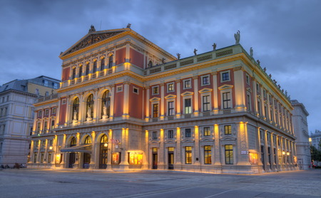 Great Hall of Wiener Musikverein, Vienna, Austria, HDR