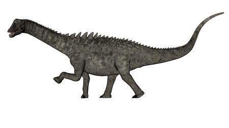 Ampelosaurus dinosaur - 3D render Stock Photo
