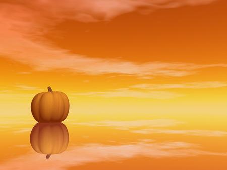 Halloween-Kürbis - 3D übertragen Standard-Bild - 87738791