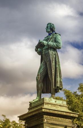 Friedrich-Schiller-Statue, Wien, Österreich Standard-Bild - 87756313
