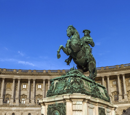 Statue of Prince Eugene, Hofburg Palace, Vienna, Austria Stock Photo