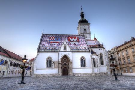 Kirche von St. Mark in St. Marks Square, Zagreb, Kroatien Standard-Bild - 87954685