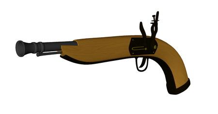 Pistole - 3D übertragen Standard-Bild - 87954922