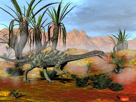 Anchisaurus Dinosaurier - 3D render Standard-Bild - 88936814