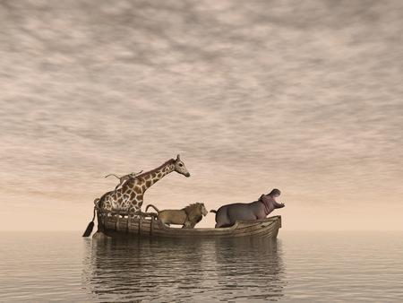 Sichere Tiere - 3D render Standard-Bild - 89053722