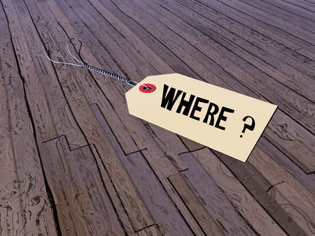 Tag asking where - 3D render