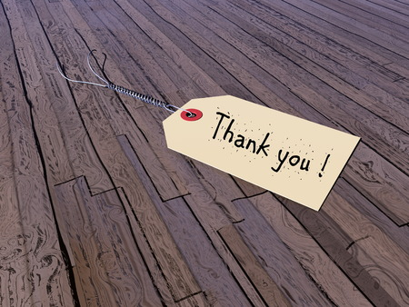 Thank you tag - 3D render