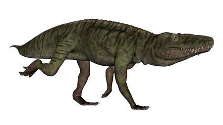 Batrachotomus dinosaur running -3D render