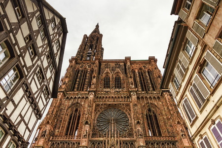 Cathedrale Notre-Dame or Cathedral of Our Lady in Strasbourg, Al