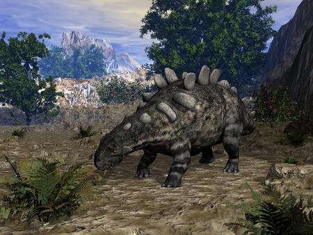 クリトンサウルス恐竜 - 3Dレンダリング