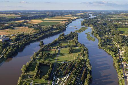 Aerial view of the Loire Valley, France Foto de archivo