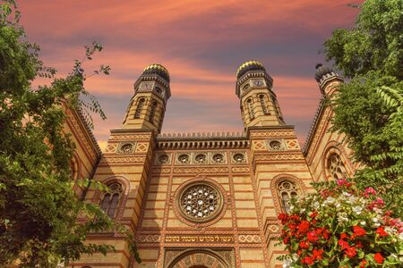 Dohany street synagogue, the great synagogue or tabakgasse synag Reklamní fotografie