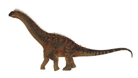 Alamosaurus dinosaur walking peacefully - 3D render