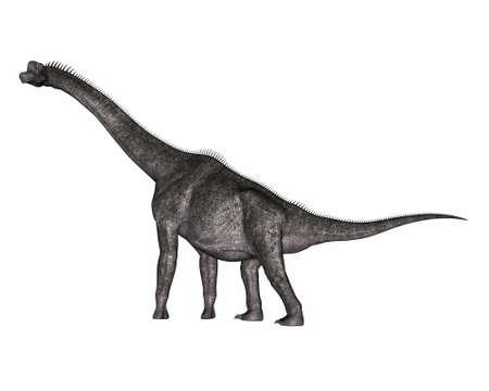 Brachiosaurus dinosaur - 3D render Banque d'images
