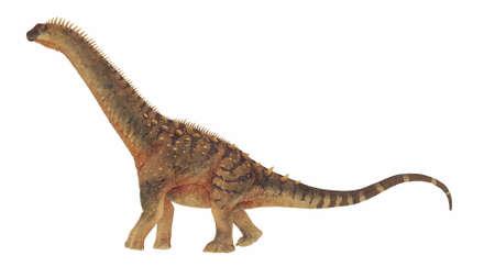 Alamosaurus dinosaur - 3D render Banque d'images