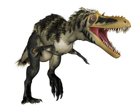 Alioramus dinosaur roaring - 3D render Banque d'images