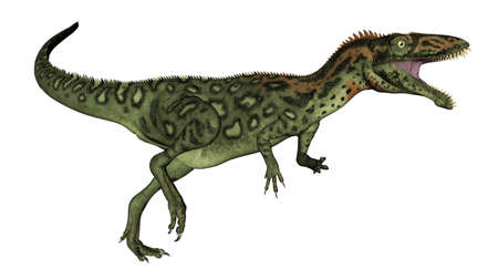Masiakasaurus dinosaur roaring - 3D render Banque d'images