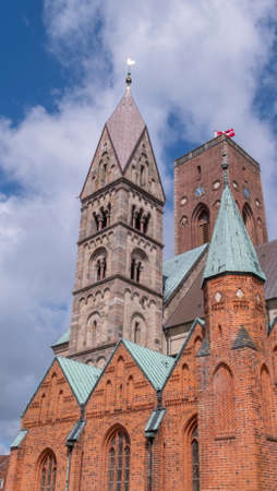 Medieval cathedral, Church of our Lady in Ribe, Denmark - HDR