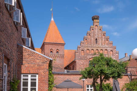 Houses in Ribe town, Denmark