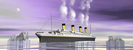 Titanic ship cruise - 3D render Banque d'images - 157933185